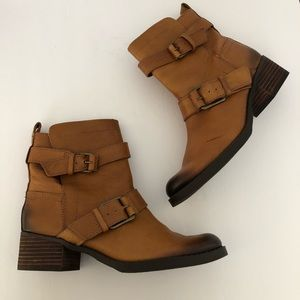 LUCKY BRAND Hanae Brown Burnished Mid Boots Sz 6.5